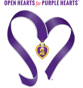 Open Hearts for Purple Hearts logo & name